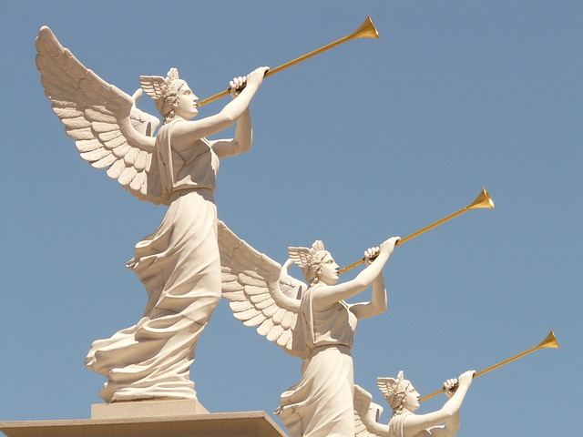 Angels blowing trumpets