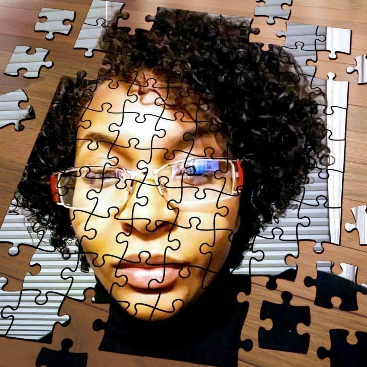 Puzzle selfie picture